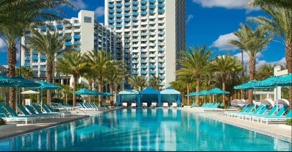 Outdoor quiet pool at Hilton Buena Vista Palace 960