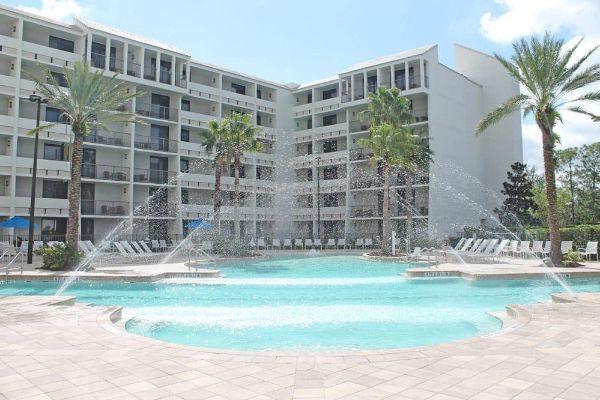 Pool looking at back of Holiday Inn Disney Springs Area 600