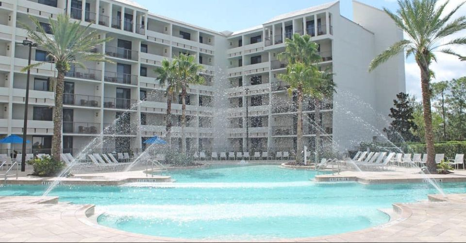 Pool looking at back of Holiday Inn Disney Springs Area 960