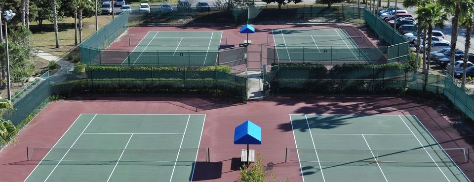 Tennis from above at the Holiday Inn Orange Lake Resort in Kissimmee Fl