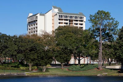 View of the Side and Back of the Holiday Inn Orlando at Lake Buena Vista