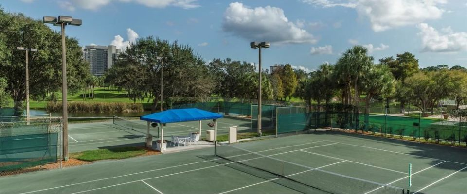 View of the Tennis Courts at the Hyatt Regency Grand Cypress in Orlando Fl