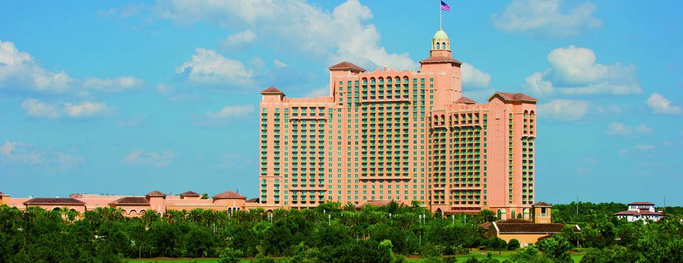 View of the JW Marriott Grande Lakes Orlando main Hotel building from the Golf Course 960