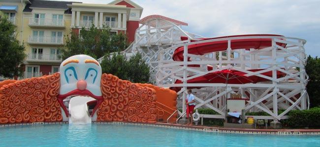 The Keister Coaster Water Slide at Disney Boardwalk Inn Disney World