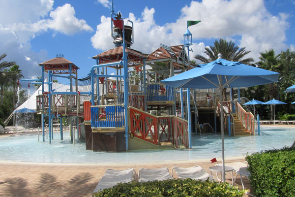 Kids Splash Park at the main Water Park in Reunion Resort
