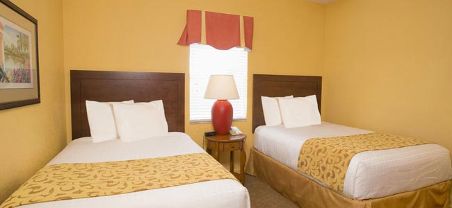 View of a Twin Bedroom at Lake Buena Vista Resort Village in Orlando Fl