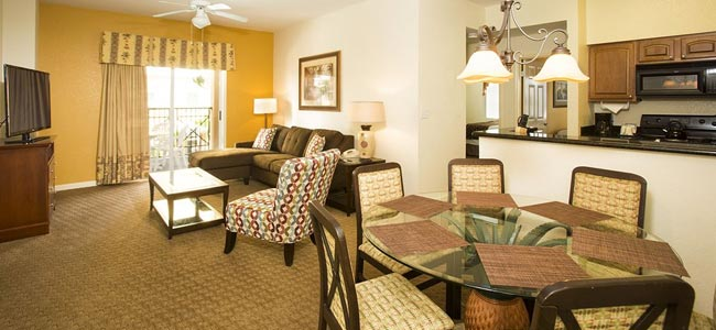 Lake Buena Vista Resort Village Suite Living Room with Balcony