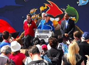 Opening day at the Kennedy Space Center Angry Birds Encounter