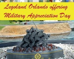 Military Appreciation free admission ticket to Legoland Orlando Florida in 2013