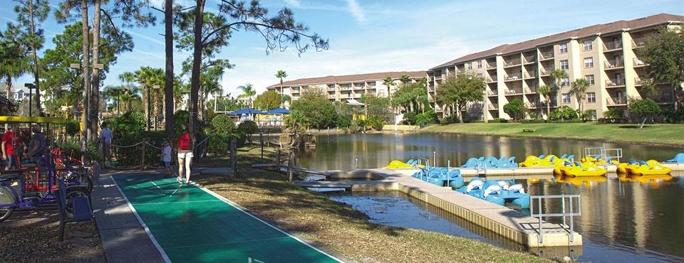 Rent a Pedal Boat and ride on the Lake at the Liki Tiki Village Resort in Winter Garden FL