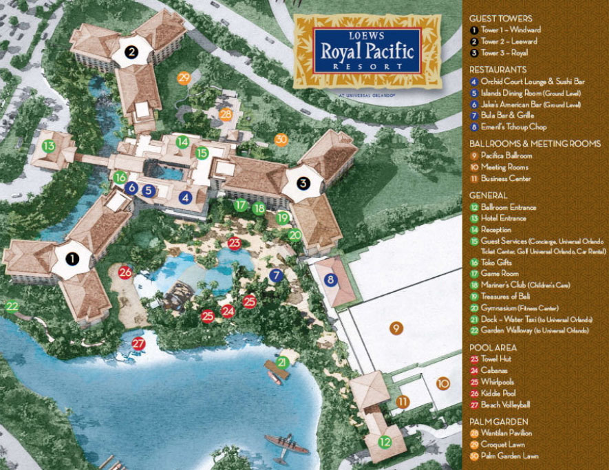 Loews Royal Pacific Resort Map on Round Rooms Floor Plans