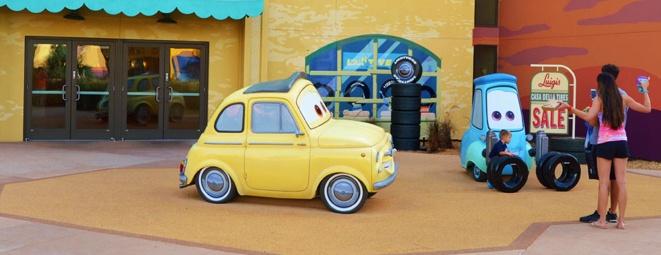 Luigi Repair Shop at the Cars Section of the Disney Art of Animation Resort 960