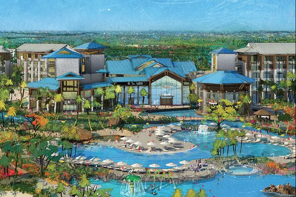 Margaritaville Orlando Resort artist drawing of the Hotel 600
