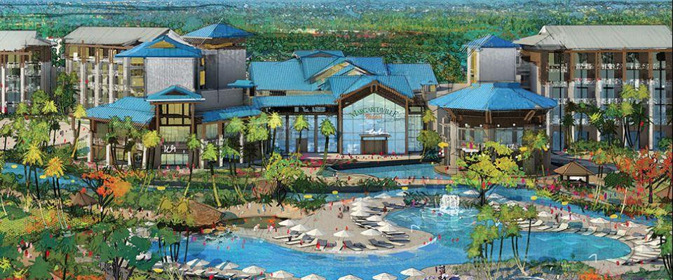 Margaritaville Orlando Resort artist drawing of the Hotel 960