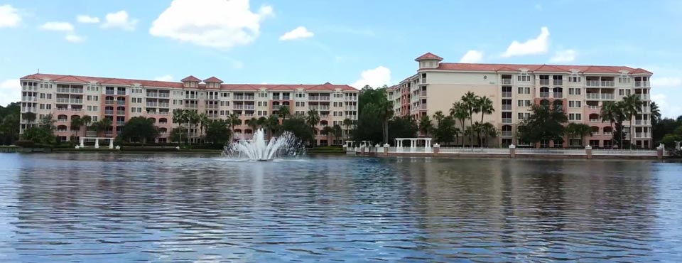 Amazing Views of the Marriott Grande Vista Resort in Orlando from the huge lake surrounding the property 960