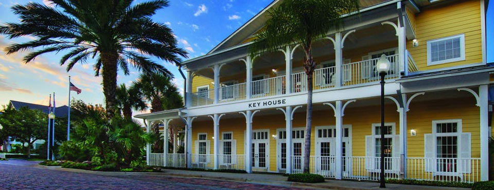 View of the Key House and Brick Streets with Caribbean Touches at the Marriott Harbour Lake Resort in Orlando Fl 960