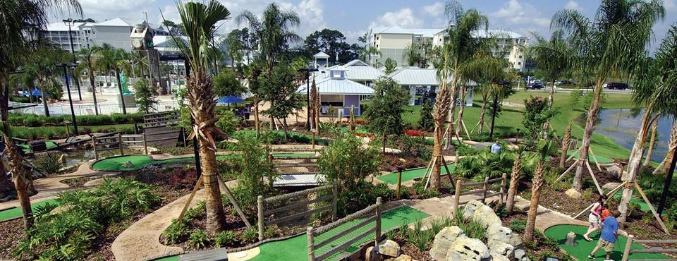 View of the Miniature Golf Course by the Lake at the Marriott Harbour Lake Resort in Orlando 960
