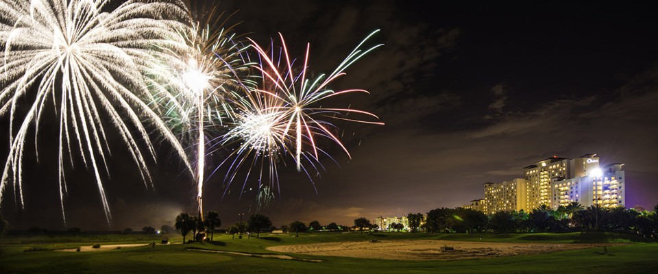 View of the Spectacular Fireworks from Disney World at the Omni Orlando ChampionsGate Resort 960