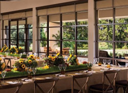 Indoor and Outdoor Dining View of the Plancha at Four Seasons Disney World in Orlando Fl