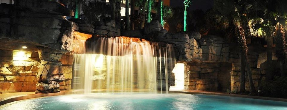 Beautiful Waterfall located at the Outdoor pool at the Radisson Resort in Orlando Fl Celebration 960