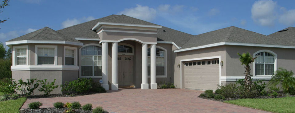 View of the outside of the 4 bedroom private home at Regal Palms Resort in Davenport Fl wide