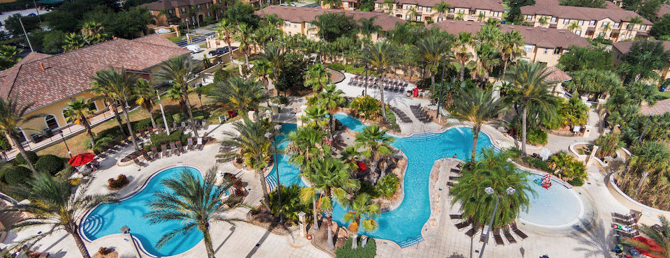 Regal Palms Resort overview of Water Park wide
