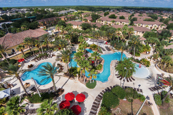 Regal Palms Resort overview of Water Park