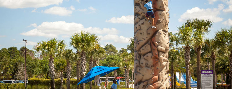 Rock Climbing Wall at the Holiday Inn Orange Lake Resort in Kissimmee Fl