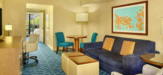 Suite with Living Room and Private Bedroom at the Sheraton Lake Buena Vista Resort