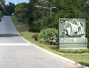 View of Spook Hill in Lake Wales Florida