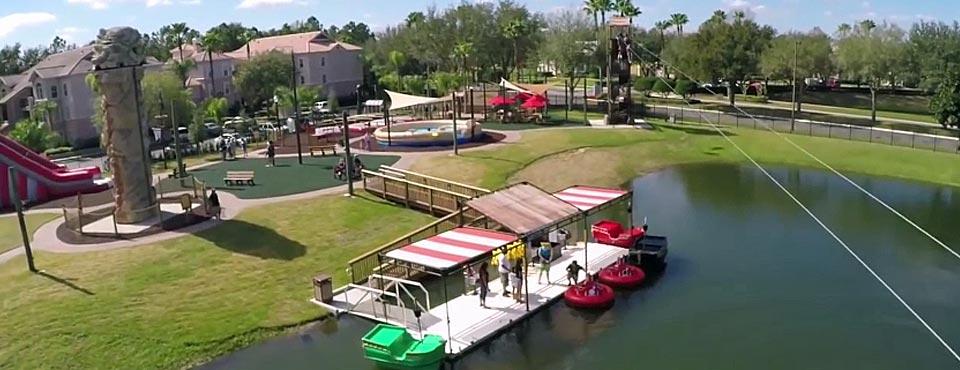 Top down view of Buccaneer Bay Adventure Park at the Summer Bay Resort in Orlando Fl 960