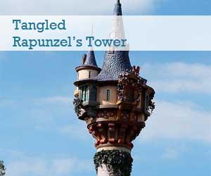 View of Rapunzel's Tower at Fantasyland