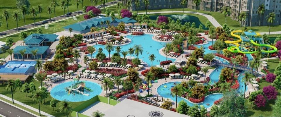 View of the new Water Park coming to the Grove Resort in Orlando 2018 960