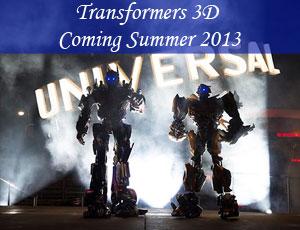 Universal Studios in Orlando Transformers The Ride Summer 2013