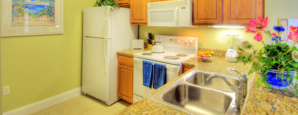 large appliances at the calypso cay resort vacation villas in orlando