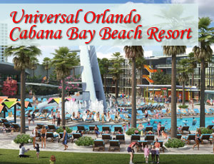 View of main pool area at Universal Orlando Cabana Bay Beach Resort
