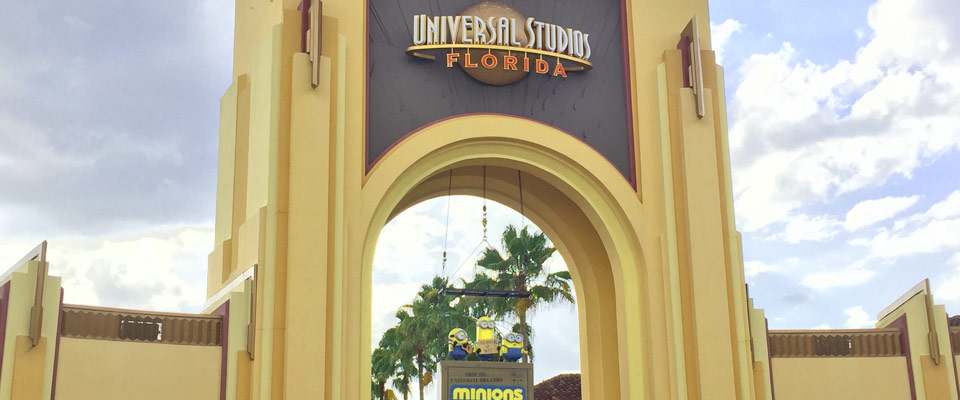 The Welcome Sign at the Entrance to the Universal Studios in Orlando