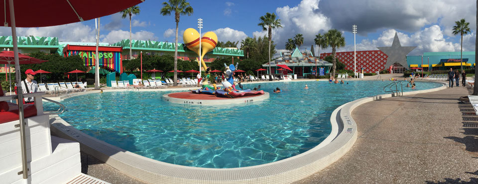 View of the Fountains at the Calypso Pool Disney All Star Music Resort in Orlando 960