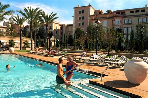 View of the Villa Pool at the Loews Portofino Bay Hotel in Orlando Florida