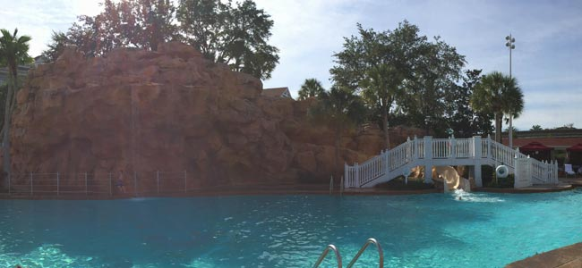 View of the Water Slide in a Rock Formation at the Grand Floridian