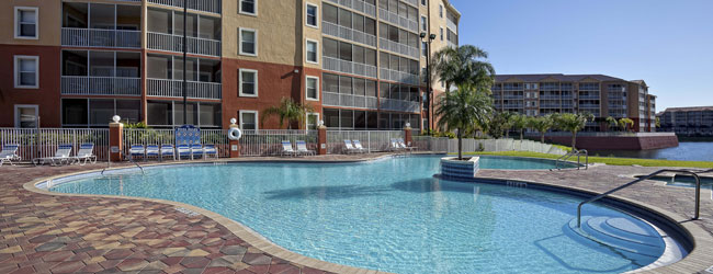 Westgate Town Center in Orlando Quiet Heated Pool wide