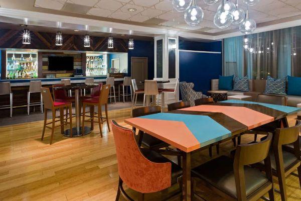 Eclipse Lounge seating at Wyndham Disney Springs