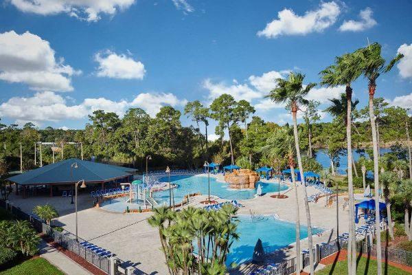 Pool area with pavilion Wyndham Garden Lake Buena Vista 600