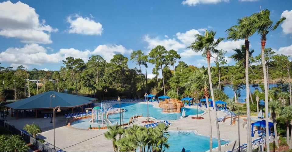 Pool area with pavilion Wyndham Garden Lake Buena Vista 960