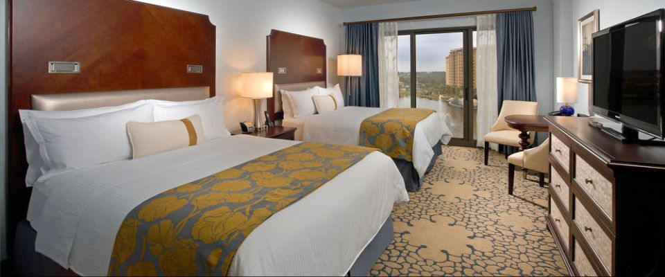 View of a Double Queen Deluxe Room at the Wyndham Grand Orlando