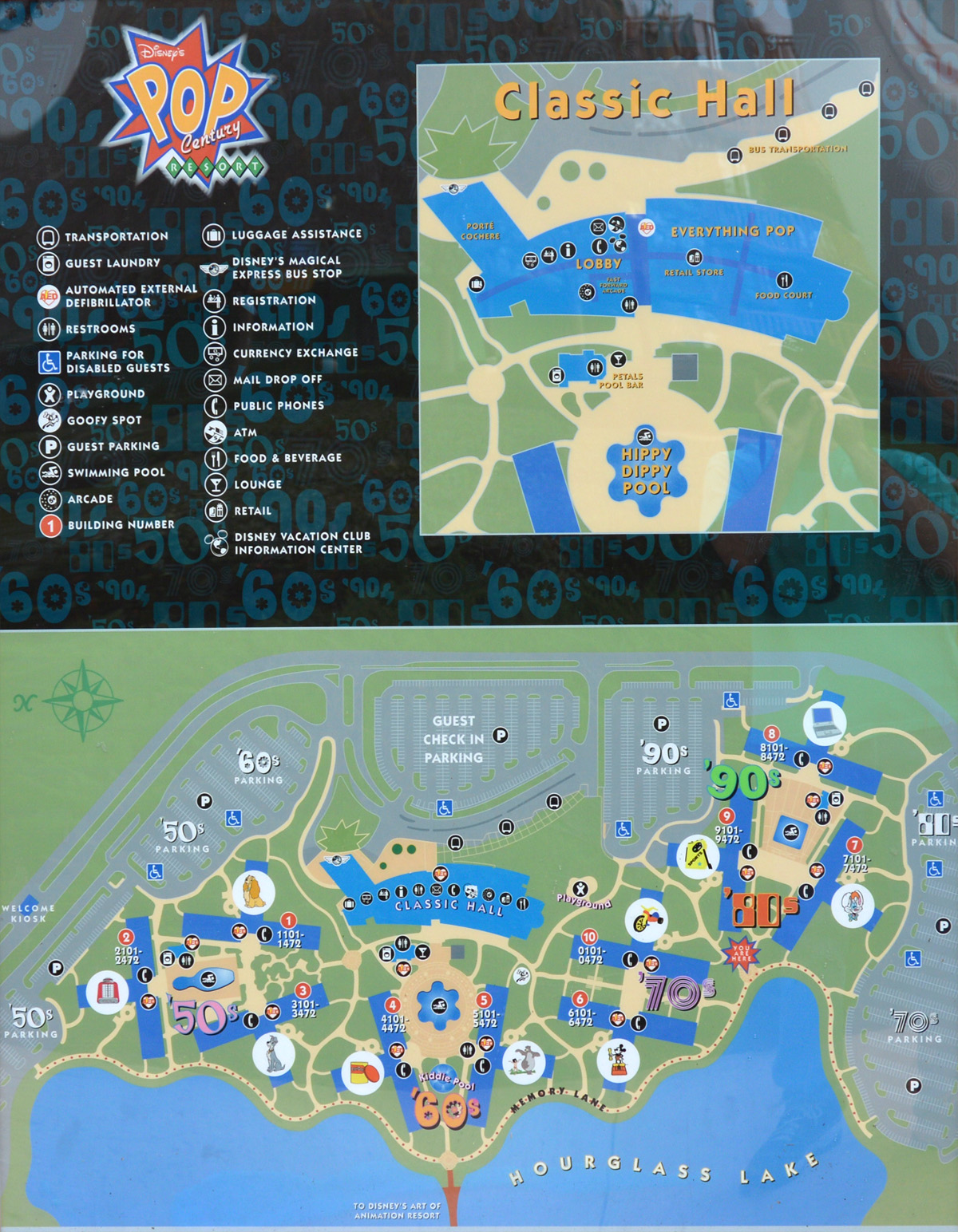 Disney Pop Century Resort Map