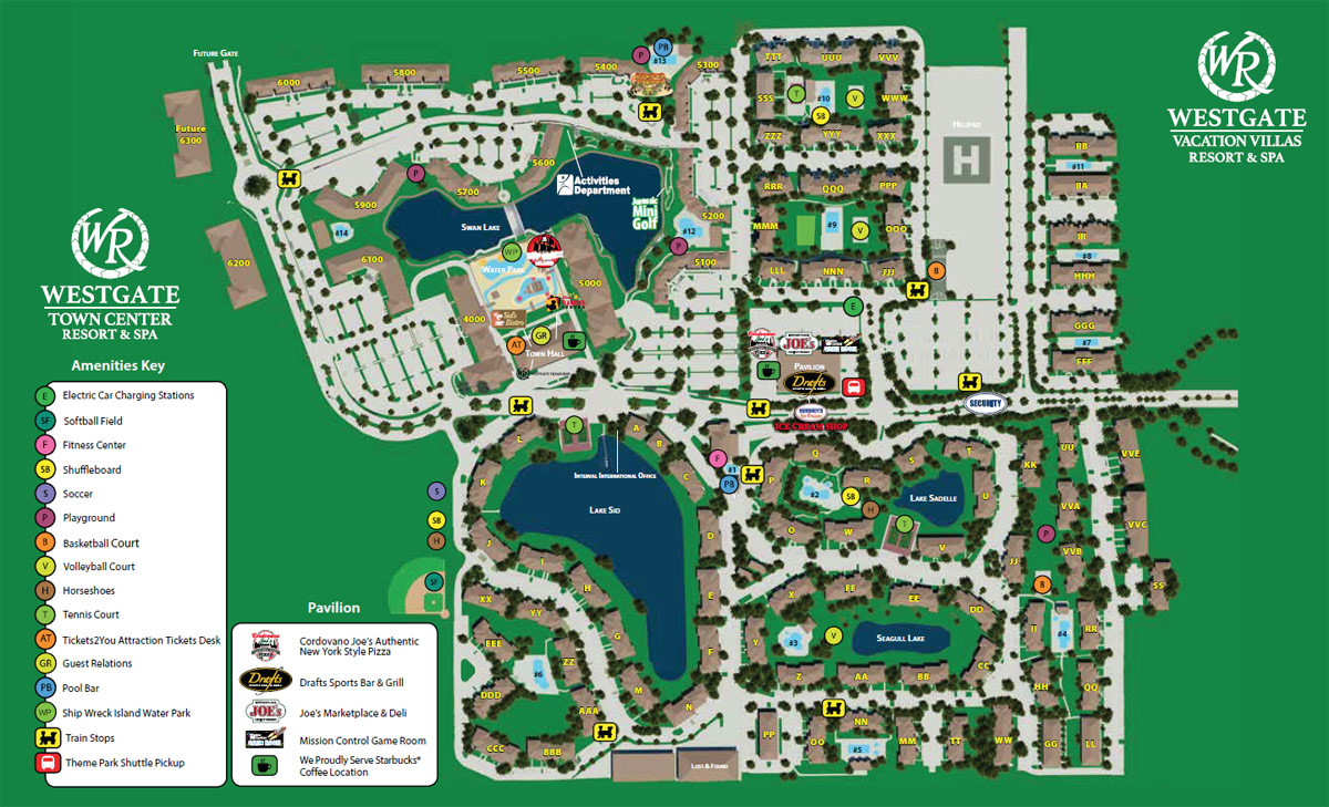 Westgate Town Center Resort Map Kissimmee Fl